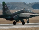 Máy bay chiến đấu Su-25 của Nga rơi xuống khu dân cư