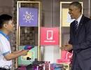 """Nam sinh trình diễn hoa sen """"công nghệ 3D Việt"""" trước Tổng thống Obama"""