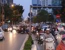 Tắc đường nghiêm trọng dọc lộ trình tuyến buýt nhanh sắp hoạt động ở Hà Nội