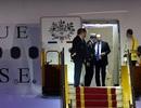 Những hình ảnh đầu tiên của Tổng thống Pháp Hollande tại Hà Nội