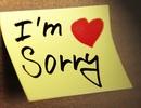 Lời xin lỗi đầu năm