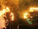 Cháy dàn đèn trang trí Tết ở trung tâm TPHCM