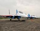 Hình ảnh phi đội Su-30SM dũng mãnh tại Nội Bài
