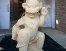 Phát hiện 2 tượng có thân hình người, đầu sư tử ở Thánh địa Mỹ Sơn