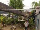 Cần cẩu đổ sập đè 2 căn nhà, 3 người thoát chết trong gang tấc