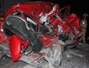 Ô tô con bị tông nát bét, nữ tài xế thoát chết thần kỳ