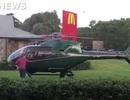 Đáp trực thăng để... lấy thức ăn
