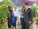 Chợ hoa Tết ế ẩm, Chủ tịch Đà Nẵng đội mưa đi động viên người bán
