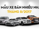 Top 10 mẫu xe bán chạy nhất Việt Nam tháng 8/2017