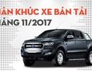 Phân khúc bán tải tháng 11/2017: Toyota Hilux thoát đội sổ