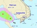 Ảnh hưởng áp thấp nhiệt đới, biển Cà Mau - Kiên Giang mưa giông