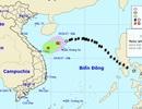 Áp thấp nhiệt đới suy yếu từ bão số 13 gây mưa giông trên biển