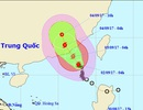 Bão số 8 hướng vào Trung Quốc, Biển Đông có gió giật cấp 13