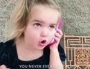 """Già đời clip cô bé 2 tuổi gọi điện """"đoạn tuyệt"""" với bạn trai"""