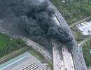 Đường cao tốc Mỹ đổ sập vì hỏa hoạn dữ dội