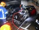 Xe Mini Cooper bất ngờ bốc cháy khi đang đỗ
