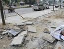 """Hà Nội: Cạy đá lát """"bền 70 năm"""" bị vỡ lên làm lại"""