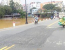 Đường Đập Đá đã được sửa chữa tạm thời cho người dân qua lại