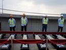 Cận cảnh lắp đặt đường ray tuyến metro đầu tiên ở TPHCM