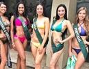 Hà Thu gợi cảm cùng thí sinh các nước trong trang phục bikini