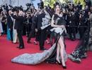 Hở bạo, sao hạng B của Trung Quốc cố gây ấn tượng trên thảm đỏ Cannes
