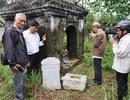 Lăng mộ mẹ vua Dục Đức bị kẻ gian đào tung nhà bia