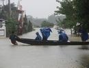 Nước lũ bủa vây, thuyền vẫn chạy đầy... đường