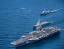 Xem máy bay chiến đấu cất cánh từ tàu sân bay Mỹ