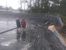 Xót xa nhìn hồ tôm bị lũ cuốn trôi trước ngày thu hoạch