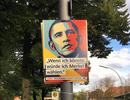 Ông Obama xuất hiện trên áp phích tranh cử thủ tướng Đức