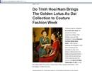 NTK Đỗ Trịnh Hoài Nam tham gia Tuần lễ thời trang lớn tại New York