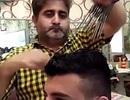 Đến Pakistan xem dịch vụ cắt tóc bằng 15 chiếc kéo cùng một lúc