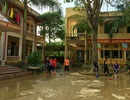 Chương Mỹ: Nước đã rút hết khỏi trường học