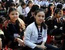 Nụ cười rạng rỡ của học sinh dân tộc thiểu số trong lễ khai giảng