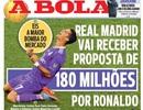 """Nhiều CLB """"quẫn trí"""", sẵn sàng chi 180 triệu euro mua C.Ronaldo"""