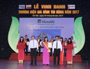 Manulife Việt Nam tiếp tục được vinh danh thương hiệu gia đình tin dùng