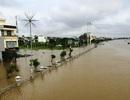 Nước sông Đáy dâng cao, nhiều xã bị ngập lụt