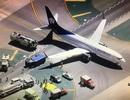 Mỹ: Máy bay va chạm xe tải ngay trên đường băng