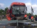 Ô tô 7 chỗ đấu đầu với xe khách trên cao tốc Hà Nội - Lào Cai