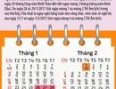Lịch 7 ngày nghỉ Tết Nguyên Đán Đinh Dậu 2017