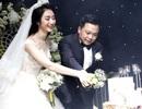 Hoa hậu Thu Ngân lộng lẫy trong tiệc cưới cùng chú rể doanh nhân