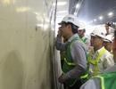 Thứ trưởng Bộ GTVT kiểm tra những vết nứt trong hầm Hải Vân