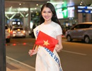 """Thùy Dung mang 10 kiện hành ký, """"bắn"""" tiếng Anh trước khi đến Miss International"""