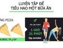 """[Inforgraphics]: Làm thế nào để """"tiêu hết"""" calo sau một bữa ăn thịnh soạn?"""