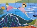 Bờ kè biển Đà Nẵng sinh động với tranh gốm nghệ thuật