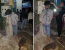 Thanh niên trộm chó bị dân treo cổ lên cột điện