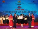 """BIDV xuất sắc nhận giải thưởng """"Doanh nghiệp vì Người lao động"""" năm 2017"""