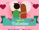 """[Infographics]: """"Ngày tình yêu"""" trong con mắt của phái mạnh và phái yếu"""