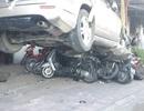 Ô tô vù ga, trèo lên nhiều xe máy: Tài xế không bị xem xét hình sự
