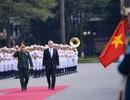 Hình ảnh lễ đón chính thức Bộ trưởng Quốc phòng Mỹ